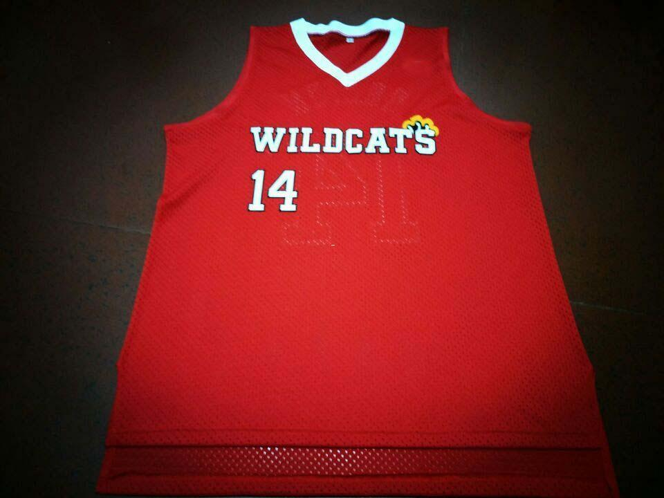 99ff2a2b677 2019 Men WILDCATS #14 Troy Bolton REAL Full Embroidery College Jersey Size  S 4XL Or Custom Any Name Or Number Jersey From Ncaa001, $16.45 | DHgate.Com