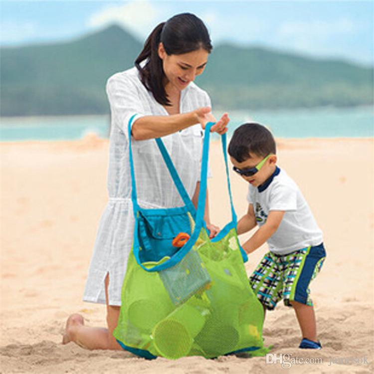 Creative Folding Baby Child Beach Mesh Bag Child Bath Toy Storage Bag Net Suction Cup Baskets for Outdoor Hanging Big Volume c547