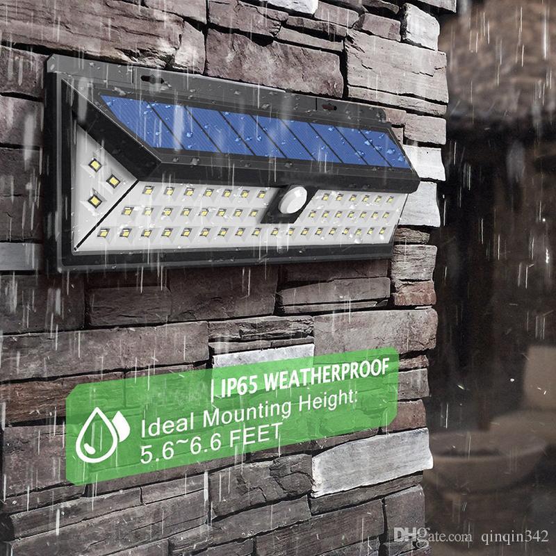 IP65 Водонепроницаемый 34/54/66/90 СВЕТОДИОДНЫЙ Солнечный Свет 2835 SMD Белый Солнечной Энергии Открытый Сад Свет PIR Датчик Движения Путь Настенный Светильник