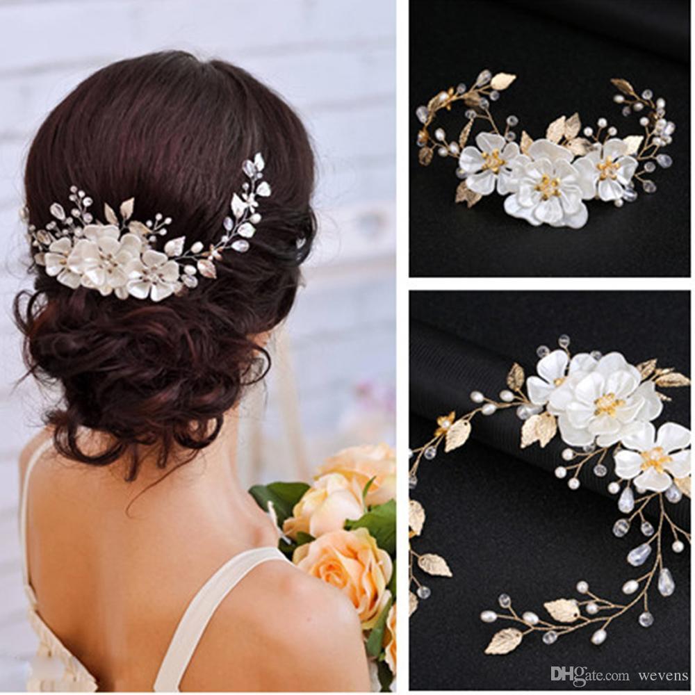 Elegant Bridal Flower Hair Ornaments Fashion Hairwear Wedding Hair