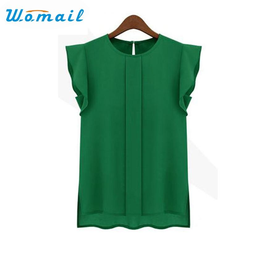 Womail Shirt Newly Design Womens Casual Loose Chiffon Flower Sleeve Vest Tank Tops 160505