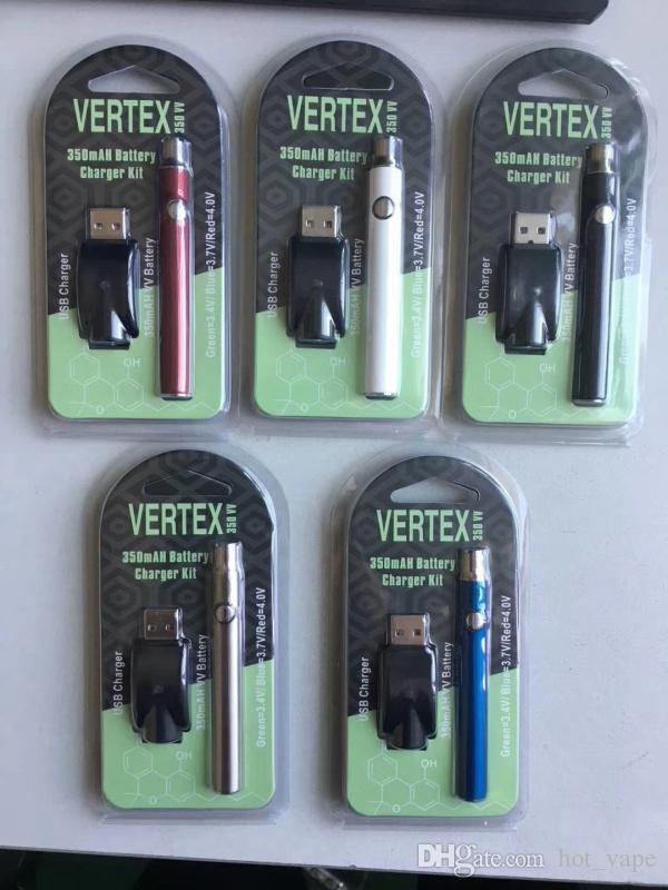 Preheat Vape Pen 350mah Variable Voltage 3.7-4.1V Preheating Battery Button 510 Battery Vaporizer Pen O Pen