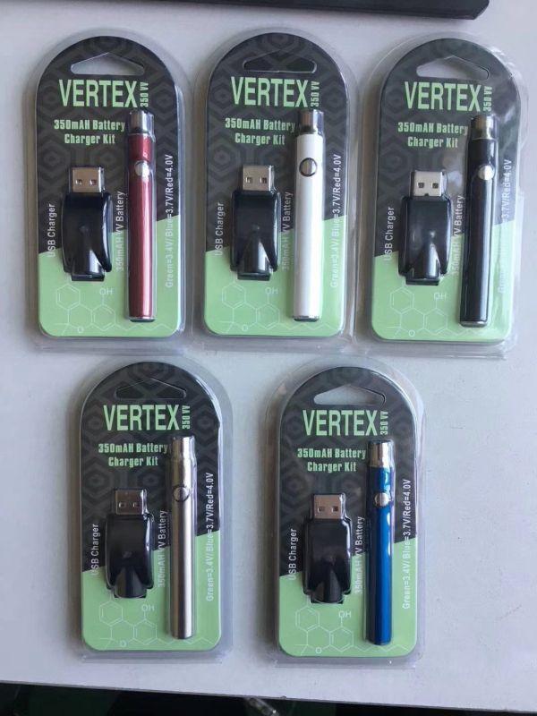 Preheat Vape Pen 350mah VV 3.7-4.1V Preheating Battery Button 510 Thread Vape Batteries CE3 Thick Oil Vaporizer Pen O Pen