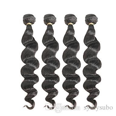 "100% Brazilian Virgin Body Wave Hair Extension 10-30"" Brazilian Human Hair Weave 6a Unprocessed Double Weft Hair"