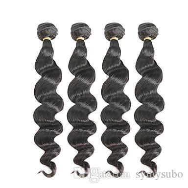 Extension de cheveux de vague de corps de Vierge du Brésil 100% 10-30