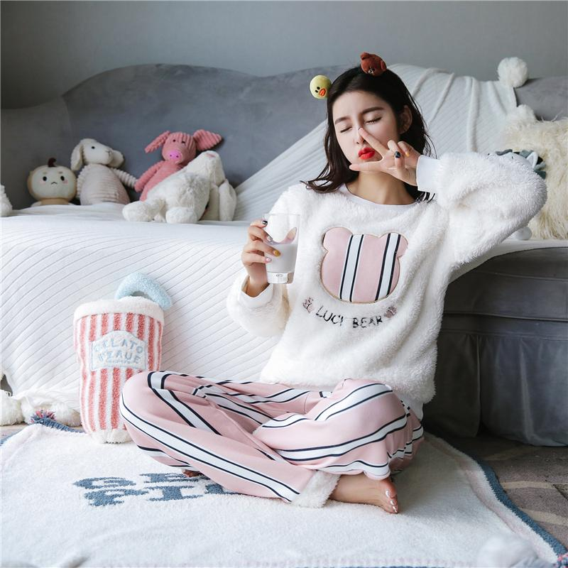 Unterwäsche & Schlafanzug Frauen Schlaf Bottoms Casual Lose Komfortable Tasche Schlaf Lange Pyjamas Unterwäsche Weibliche Schlaf Hause Voll Lounge Hose