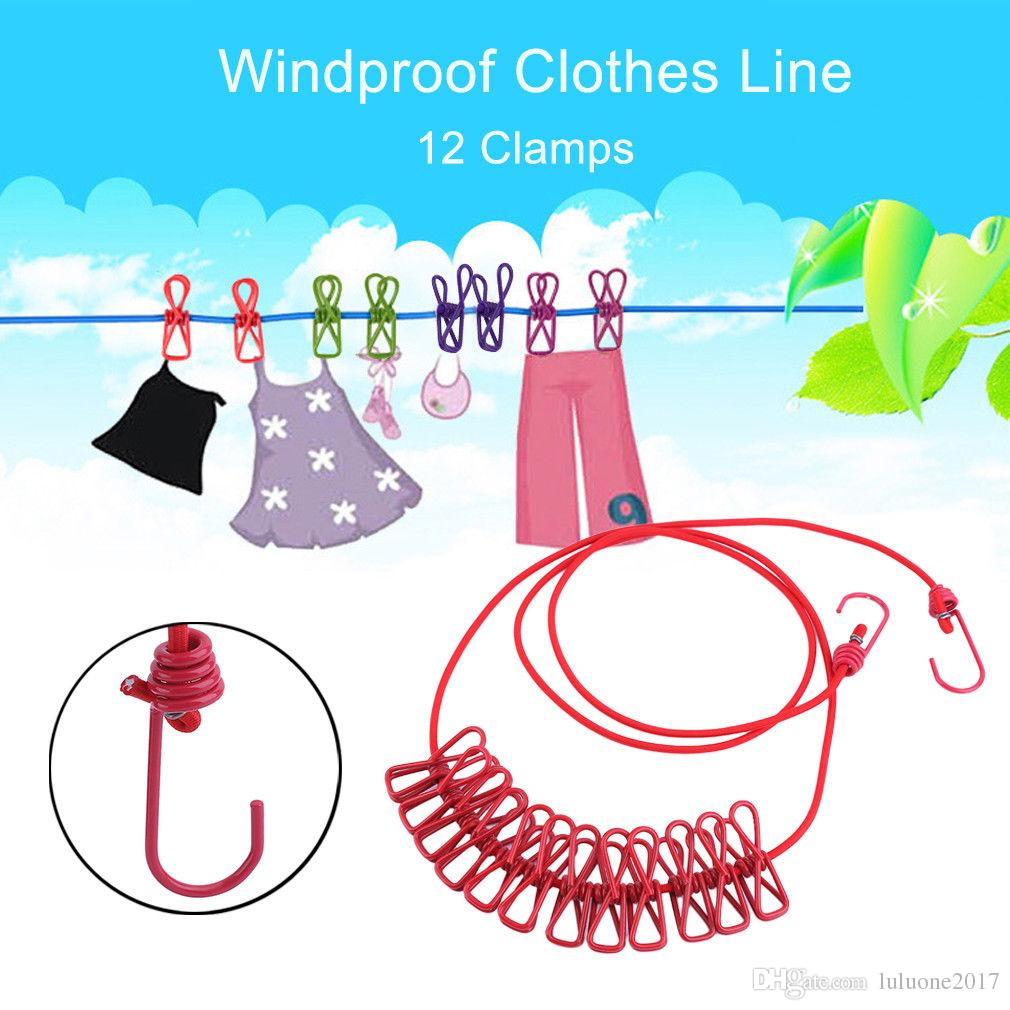 2019 Outdoor Laundry Clothes Underwear Line Socks Clip Holder
