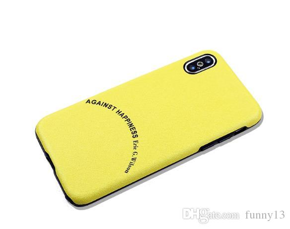 Original solid color yellow ultra-thin fit phone shell 8 back shell is more flexible around the soft silk texture protective cover