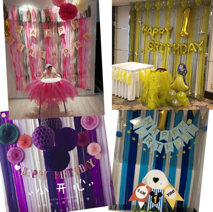 Background Wall Birthday Decoration Decoration New Year