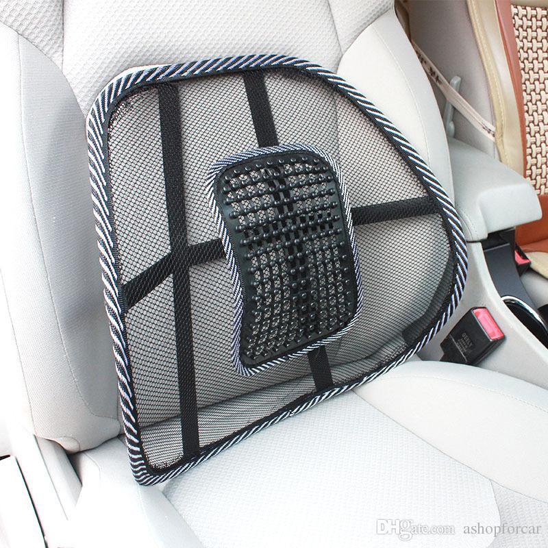 comfortable mesh lumbar back support cushion waist support orthopedic pillow massager back pain. Black Bedroom Furniture Sets. Home Design Ideas