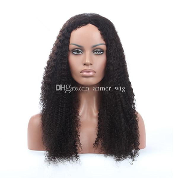 2018 10a grade pretty beauty aaaaaa 100% unprocessed remy virgin human hair natural color long afro curly full lace wig for women