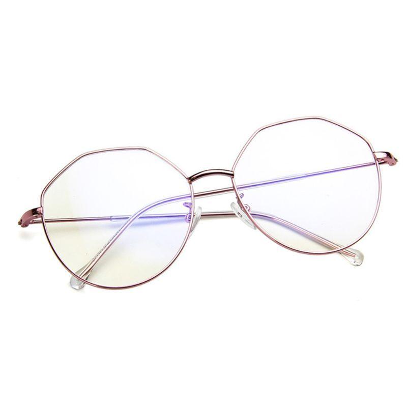 4d3f83d3ec 2019 Optical Glasses Geometric Frame Clear Lens Spectacle Eyeglasses From  Amsunshine