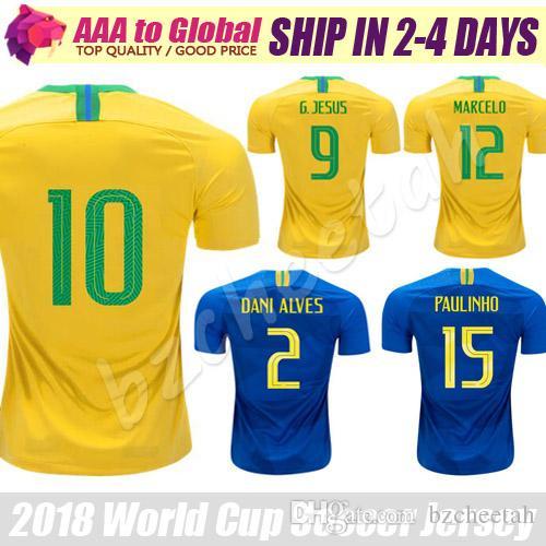 d314a93333 Compre Camisa De Qualidade Superior 2018 19 Camisa De Futebol Para Adulto  Casa De Distância PAULINHO R.AUGUSTO P.COUTINHO MARCELO Camisa De Futebol  Homens ...