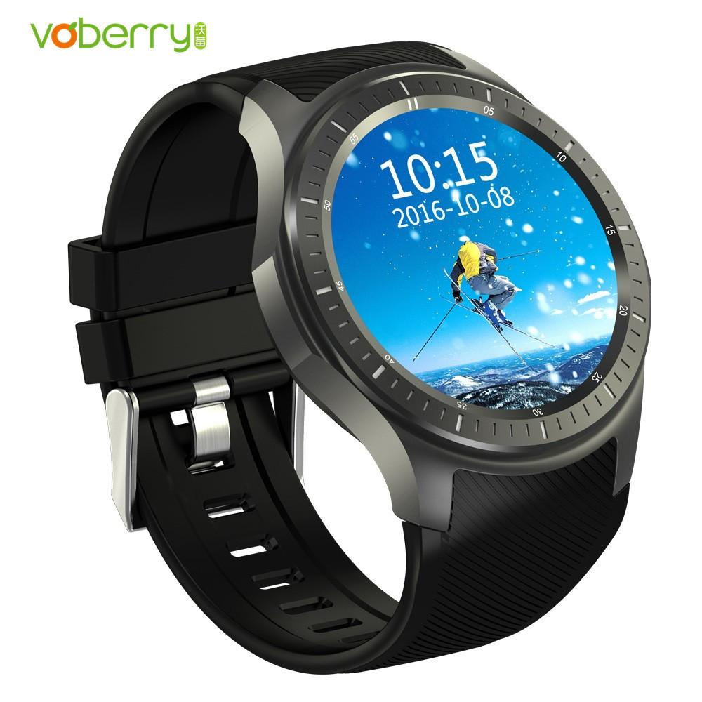 VOBERRY Hot Smartwatch Phone 1.39 inch Android 5.1 3G Smart Watch Quad Core 8GB GPS Pedometer Heart Rate Monitor Wristwatch