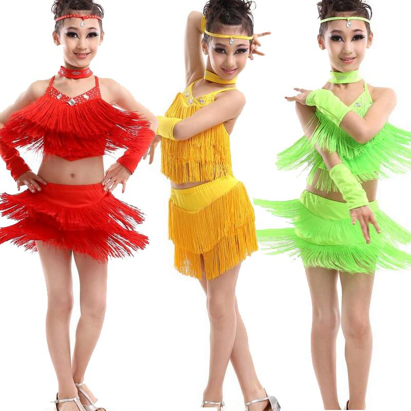 f290cd95cd1 Acheter Fille Moderne Robe De Danse Latine Pour Les Filles Samba Dress  Ballroom Dancing Girl Concours Dancewear Enfants Kid Dance Costumes De   27.18 Du ...