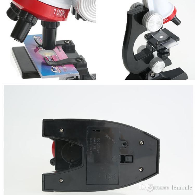 Crianças Kit de Microscópio Biológico Microscópio Ciência 1200x Zoom Biológico Refinado Instrumentos Científicos Brinquedo Educativo Para Criança