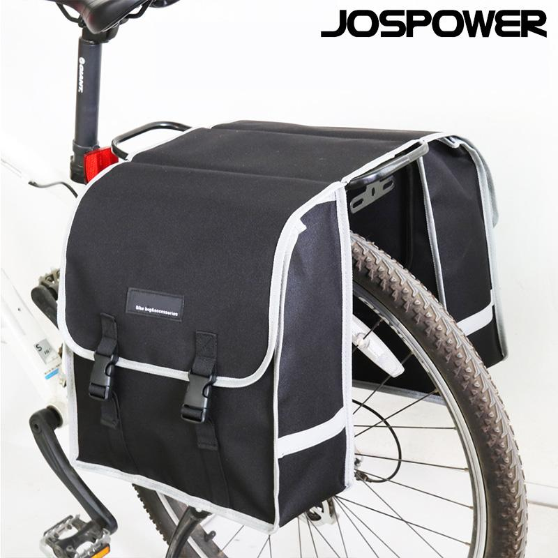JOSPOWER Mountain Road Bike Trunk Bags Cycling Double Side Rear Rack Tail  Seat Pannier Pack Bicycle Luggage Carrier Accessory