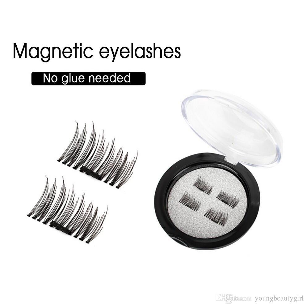 65b95e0a56c Reusable Magnetic Eye Lashes Handmade Natural Long One Magnets 3D Eyelashes  False Lashes Set No Glue Needed Eyelash Tinting Eyelash From  Youngbeautygirl, ...