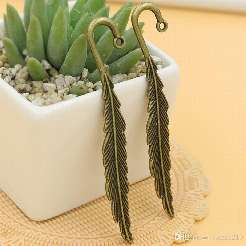 diy silver bronze tone feather bookmarks jewelry making findings