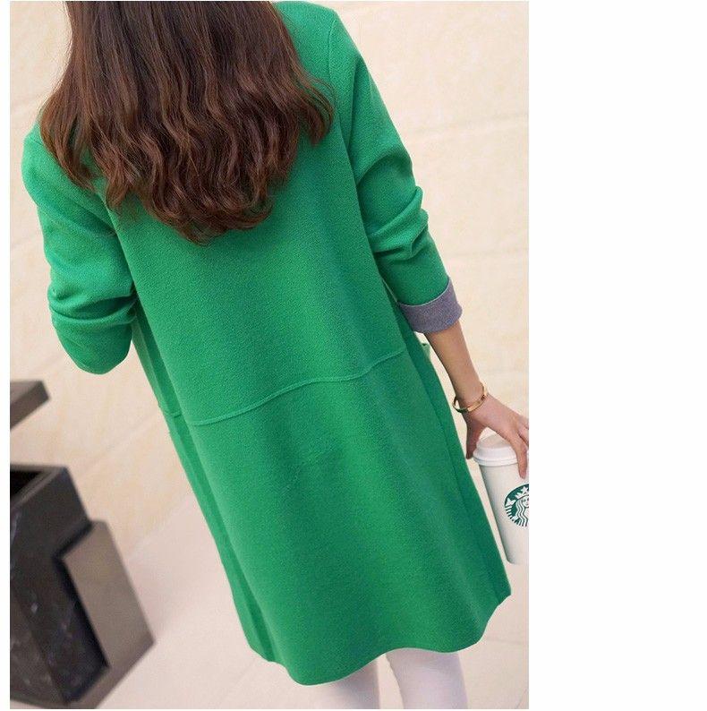 Women Sweater Long Cardigan 2018 New Fashion Autumn Winter Long Sleeve Loose Knitted Cardigan female Sweaters Long Coat