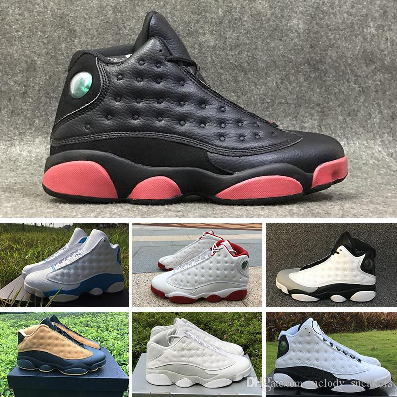sports shoes 65b81 e63d1 ... shop großhandel 2018 nike air jordan 13 retro running shoes top  qualität j13 weiß blau gelb