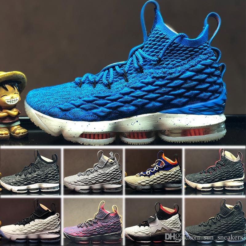 huge selection of b7b9c 43049 Großhandel 2018 Nike Lebron 15 LBJ15 Designer Shoes Neue Ankunft Hohe  Qualität XV 15 GLEICHHEIT Schwarz Weiß Basketball Schuhe Für Männer 15 S EP  Sport ...