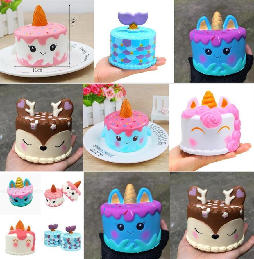 Grosshandel Squishy Einhorn Kuchen Cartoon Squishy Spielzeug Langsam