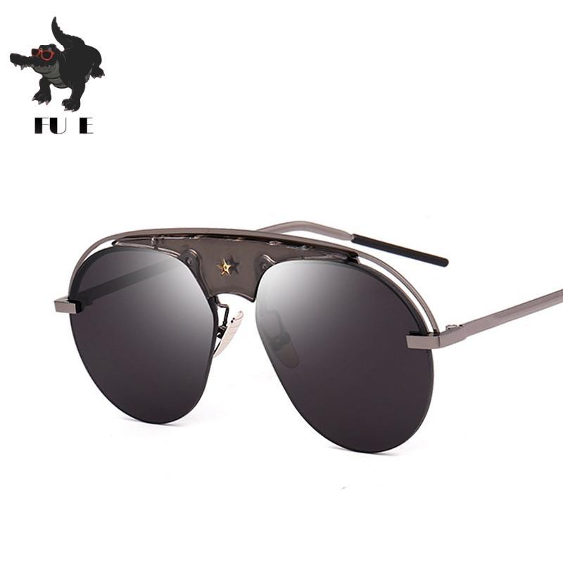 5830e79ce72e4 Compre Fu E 2018 Novo A Mais Recente Alta Qualidade Nova Marca Designer De  Senhoras Dos Homens Clássico Óculos De Sol Óculos De Sol Óculos De Sol Uv400  ...