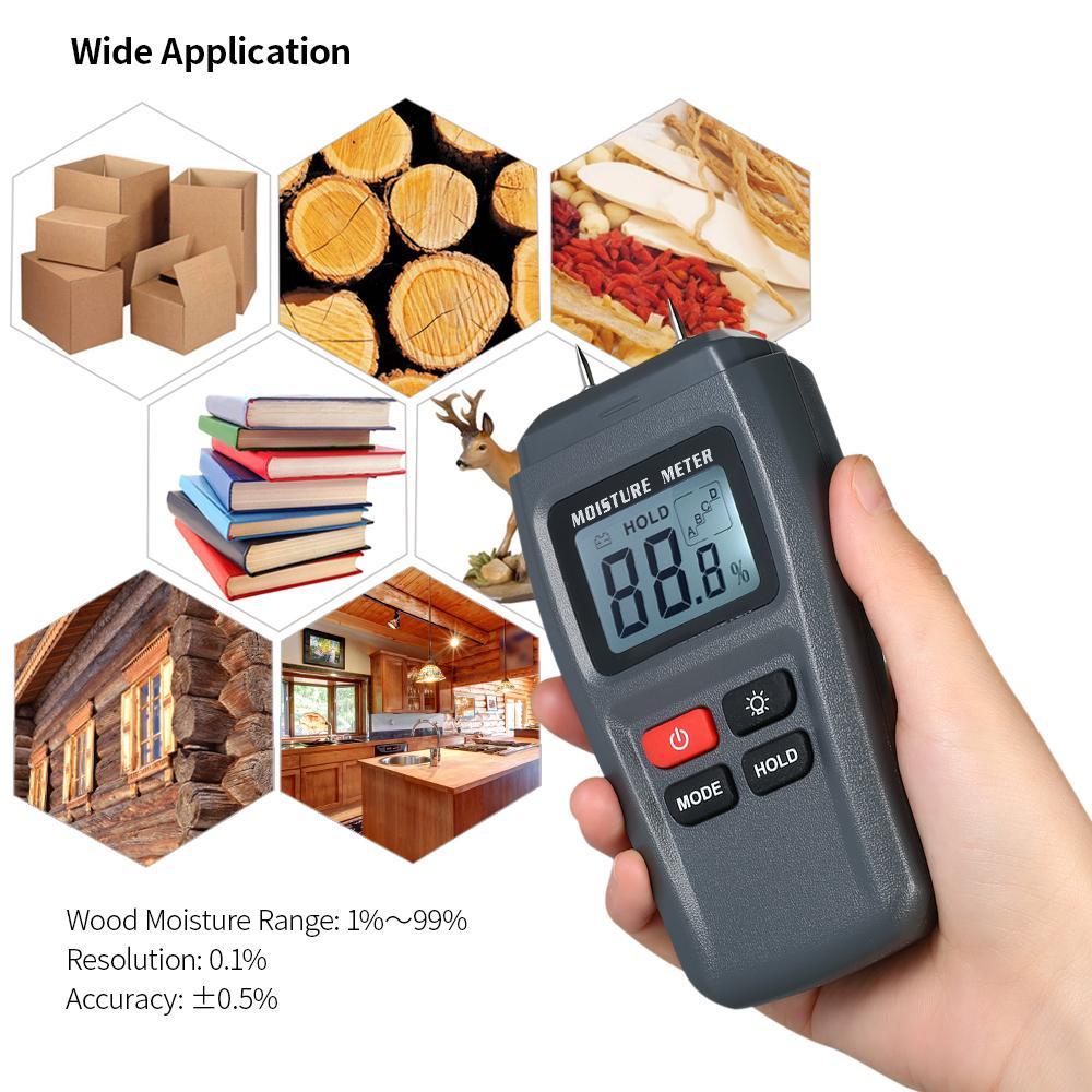 Analysatoren 0-99.9% Digital Holz Feuchtigkeit Meter Holz Feuchtigkeit Tester Baum Damp Detector Feuchtigkeit Tester