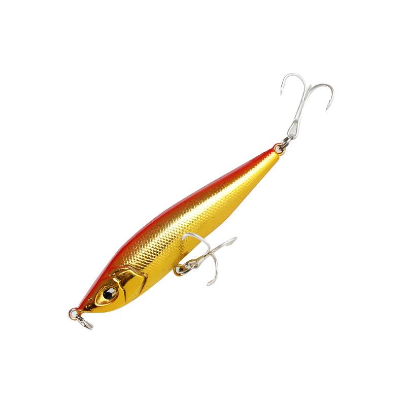 New Plastic Minnow Casting Laser Fishing Lure 15g 8cm Slow Diving Hard Bait Freshwater Pencil Swimbaits