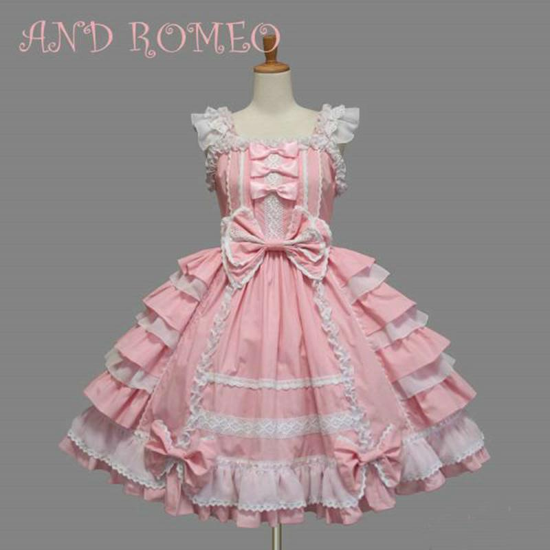 0f9fe06bb2df2 10 Color Customized Gothic Victorian Lolita Dresses Summer Layered Cosplay  Costume Cotton JSK Dress for Women Drop Shipping