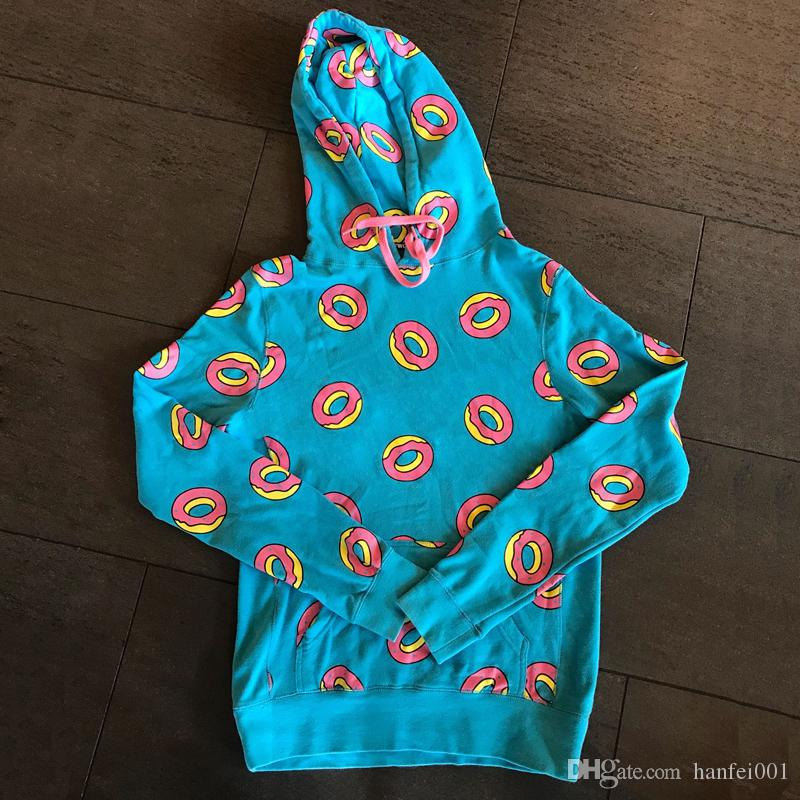 4b6a42989b0f 2019 18SS Odd Future Golf Wang Donut Blue Hoodies Hooded Sweatshirts  Pullover Spring Autumn Casual Street Couple Hoodies Outwear HFLSWY193 From  Warehouse me ...
