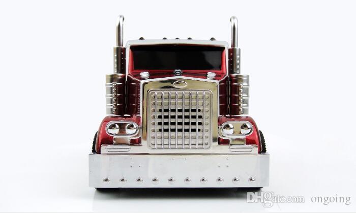 Araba Modeli Kamyon Şekli Evrensel Hoparlör Bluetooth Mini Hoparlör Ile LED Işık Kablosuz Taşınabilir Subwoofer Desteği FM TF USB MP3 Müzik oyuncu