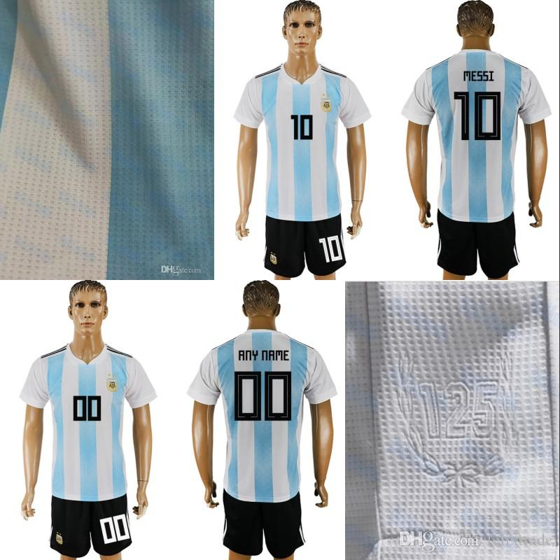 cd574bcdb Argentina 2018 World Cup Soccer Sets Home Messi Manuel Lanzini ...