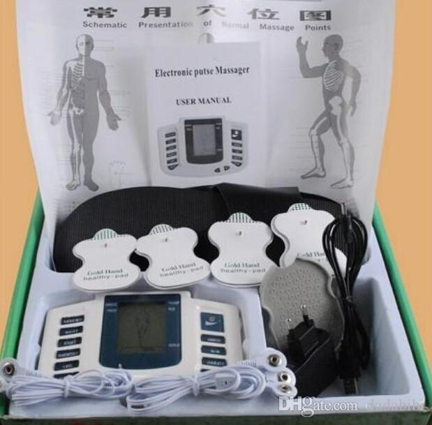 Electrical Stimulator Full Body Relax Muscle Digital Massager Pulse TENS Acupuncture with Therapy Slipper Electrode Pads FREE SHIPPIN
