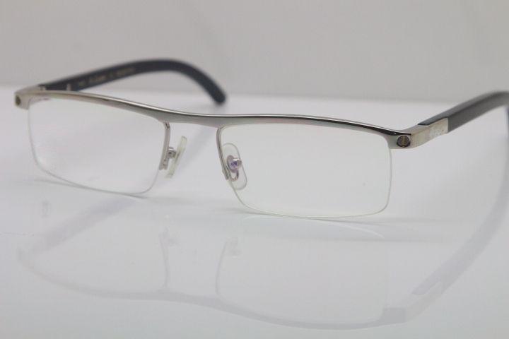حار النساء الرجال نظارات الأسود جولة بافالو القرن 4581369 نظارات الرجال النظارات البصرية 18k الذهب الذهب والفضة الإطار المعدني C الديكور الذهب