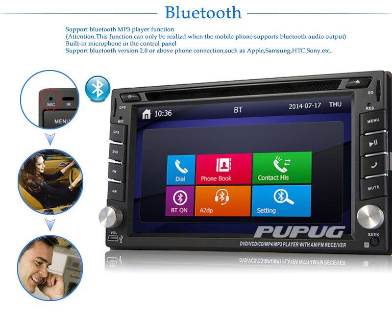 6.2 polegada Navegação GPS Embutida Unidade central do carro dupla 2DIN Em Traço Estéreo Do Carro DVD CD Player bluetooth unidade de Rádio Do Carro Do iPod