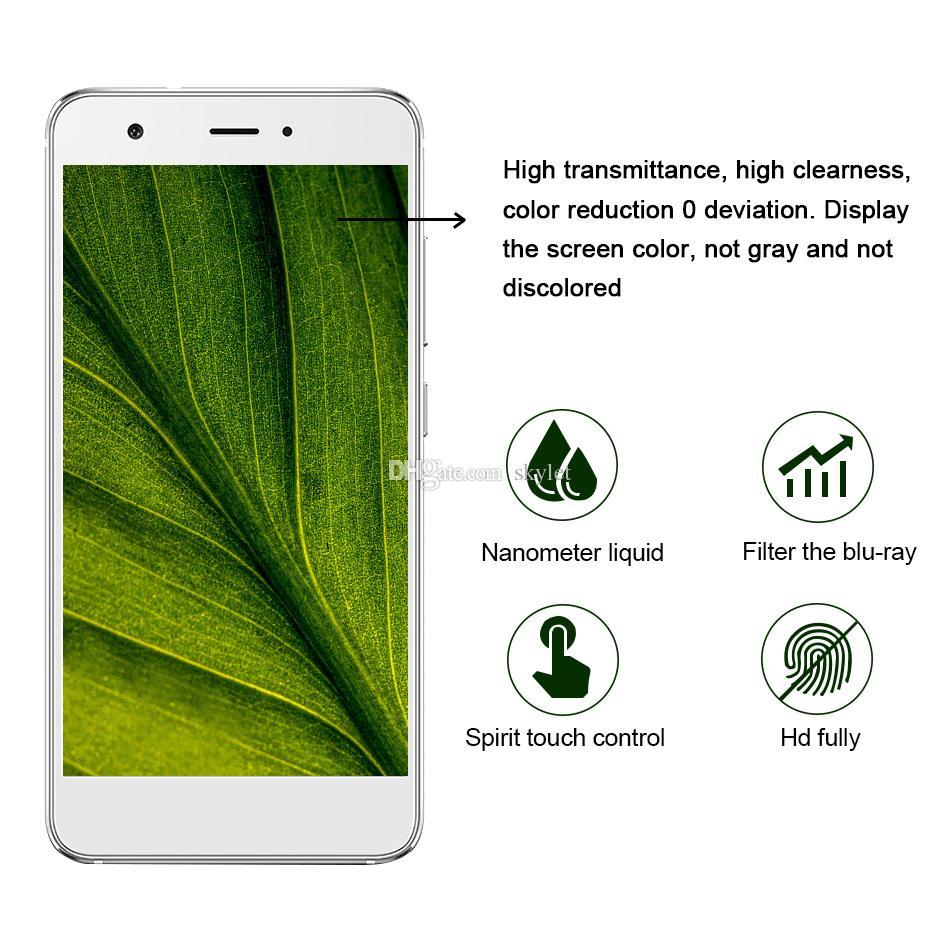 1 ml flüssige nanotechnologie displayschutzfolie 3d gebogene kante anti scratch gehärtetes glas film für iphone x 7 8 plus samsung s8 plus
