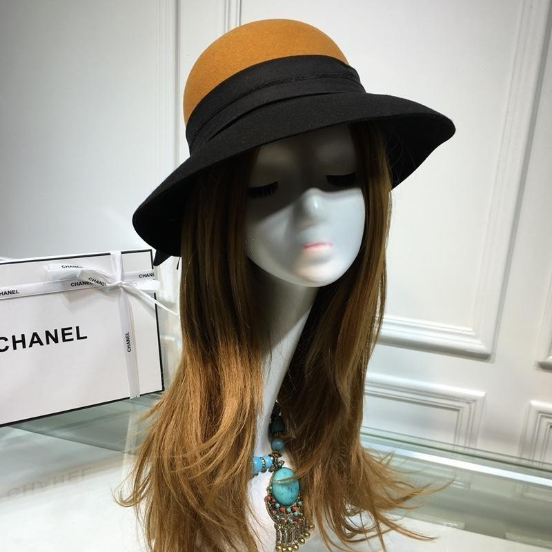 3329c6741ae 2019 High End Wool Cashmere Peaked Beanie Cap Wool Yarn Hats Autumn And Winter  LADIES Wide Brim Sun Hat 27200 From Xiaopi1008, $66.34 | DHgate.Com