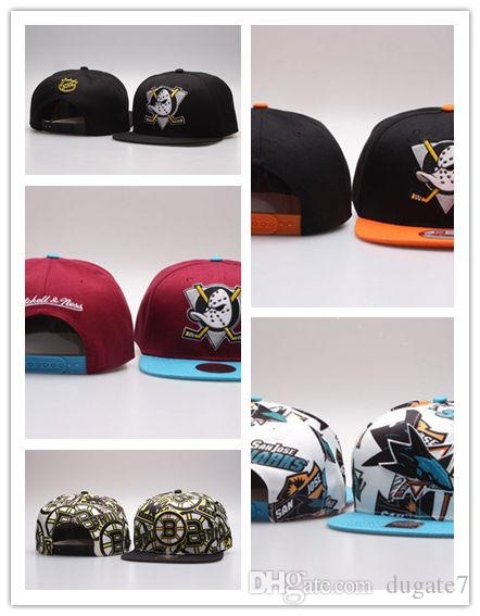 66c2d48e Top Selling NHL Mighty Hockey Snapback Hats Anaheim Ducks bone cap Flat  Fashion nhl Hats sports Cheap mens & women baseball caps