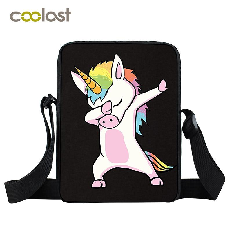 Dabbing Unicorn Mini Messenger Bag Women Hand Bags Kids Kawaii Cartoon Bags  Little Crossbody Bag For Girls Boys Women Satchels Italian Leather Handbags  Pink ... a02f372b6b23a
