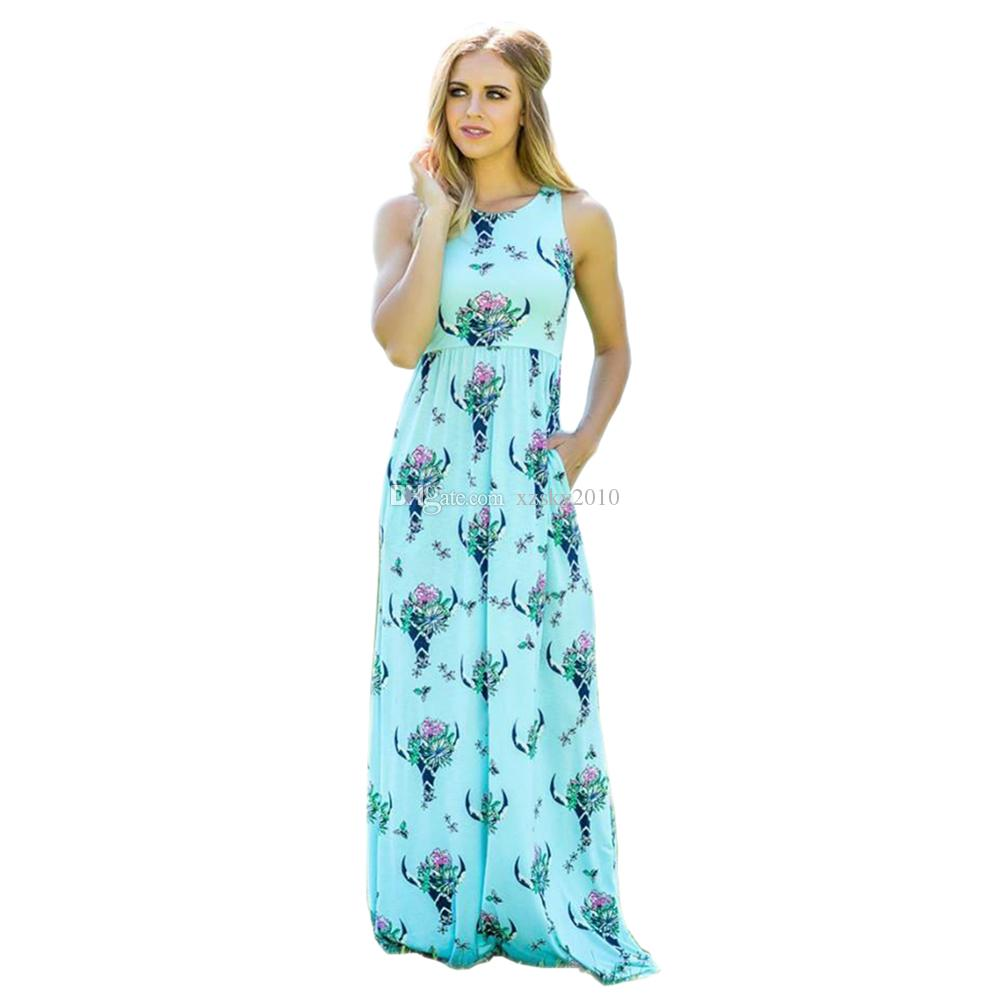 vestido largo de Bofo largo Drees Una señora 2020 Nueva vestido sin mangas de las mujeres del cuello atractivo lady'slongdressWomen Baekless Sun Diess de Lady