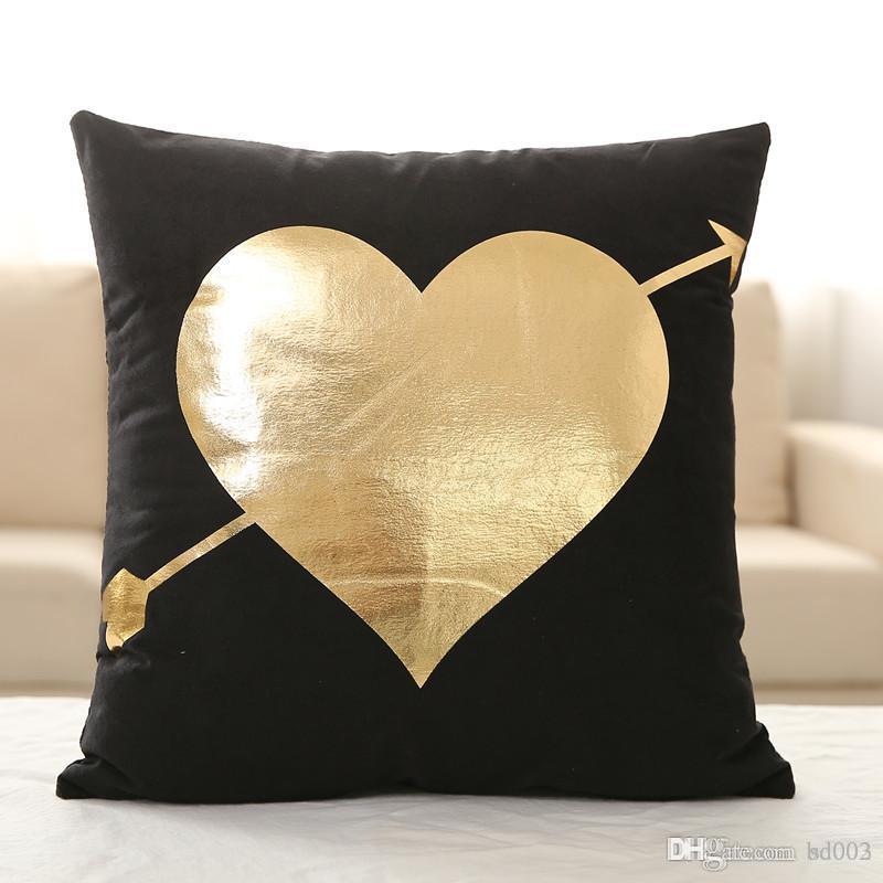 Practical Velvet Bronzing Pillow Cover Cushion Covers Home Decor Custom Small Decorative Pillows Sale