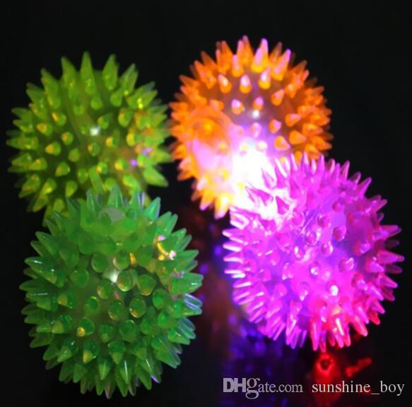 2018 hot Festival decoration Dog Puppy Cat Pet Hedgehog Ball Rubber Bell Sound Ball Fun Playing Toy Hot Worldwide Children and pet to