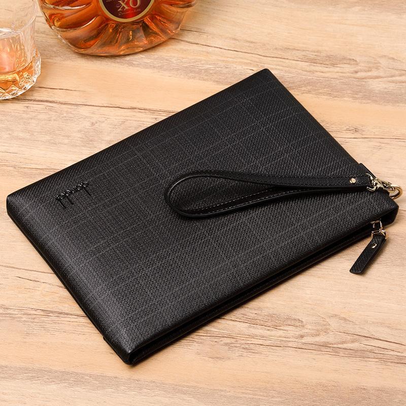 Dandeli Fine Business Envelope Bag Men Document Briefcase Handbag Wristlet Bag Hot Sale Fashion Men Srtiped Shopping