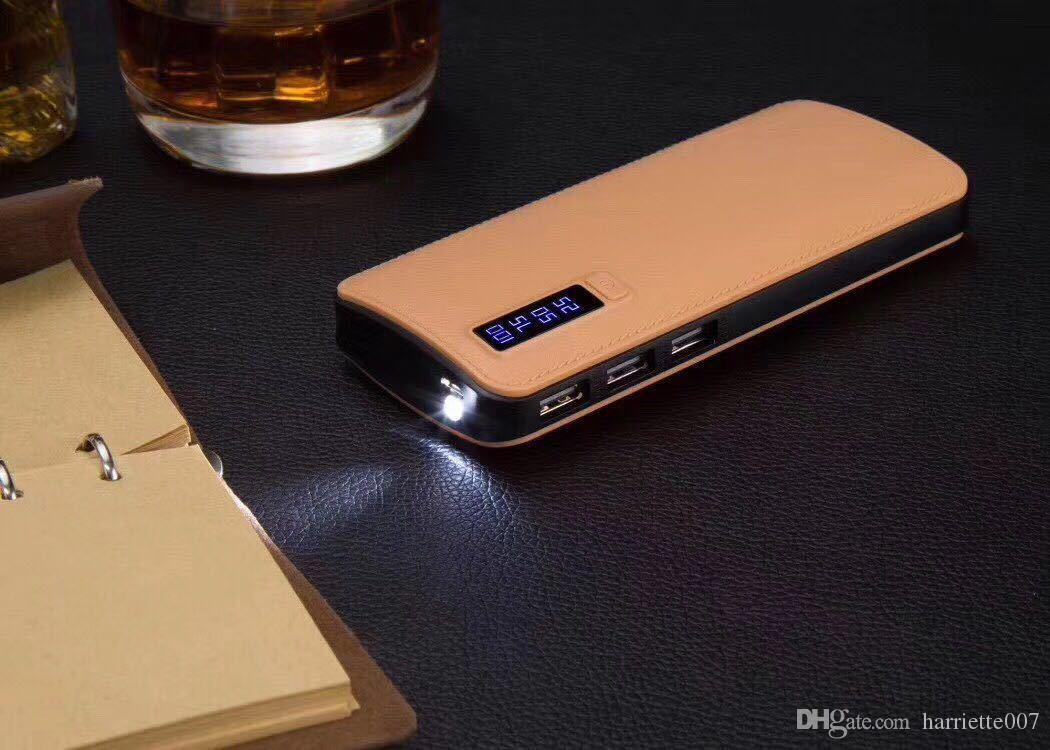 Universal 20000mah Power Bank Fast charging 3 USB with LED light and display Portable Battery Charger for all pad iPhone Retail package