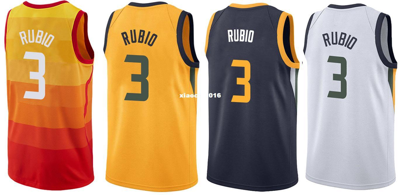 d8b7dde7ef8d ... shop cheap new 2017 18 utah 3 ricky rubio jerseys wholesale mens  stitched city edition yellow get nba 2017 18 youth jazz ...