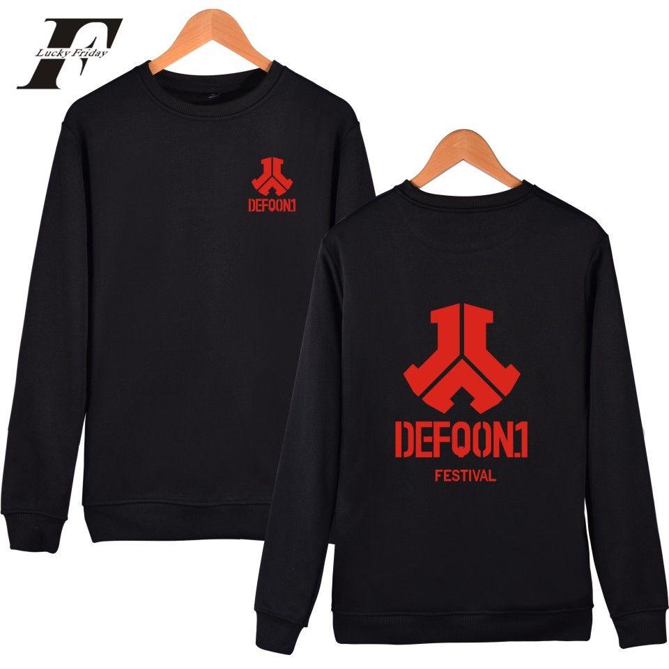 Defqon 1 2017 Music Festival Rock DJ Dancing Men/Women Capless Sweatshirt  Hoodies Kpop Winter Clothes Plus Size 4XL
