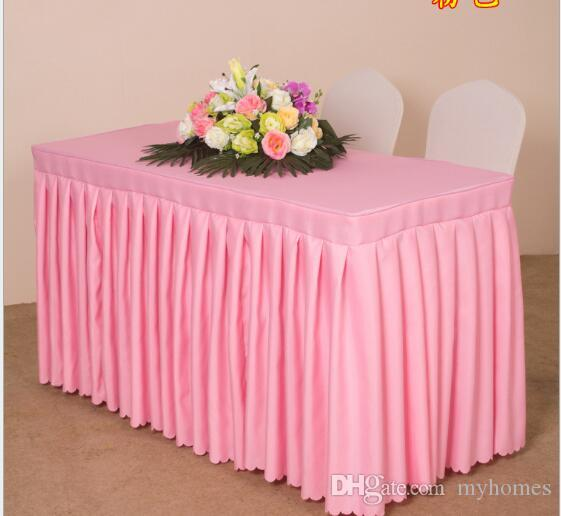 Wholesale White Black Yellow More Colours Table Cloth Table Cover Rectangle for Banquet Wedding Party Decor ForMetting Activtve Exhibition