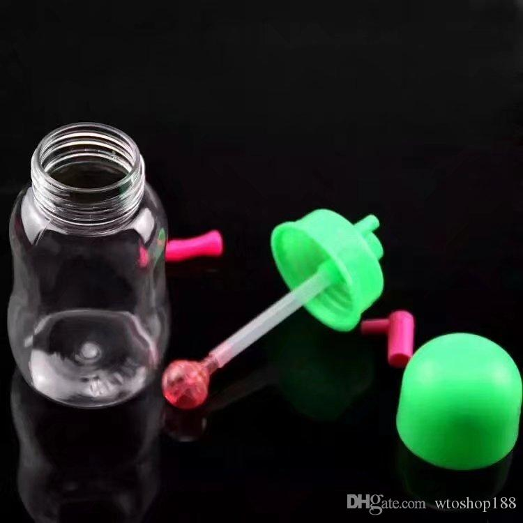 Botella plástica de la cachimba Pipas al por mayor de la hornilla del aceite Tubos de agua Pipas de vidrio Pipas de aceite que fuman, envío libre
